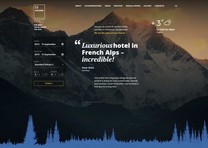 11 Rooms – Premium Responsive Hotel HTML5 Template