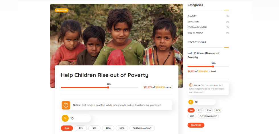 Donation single