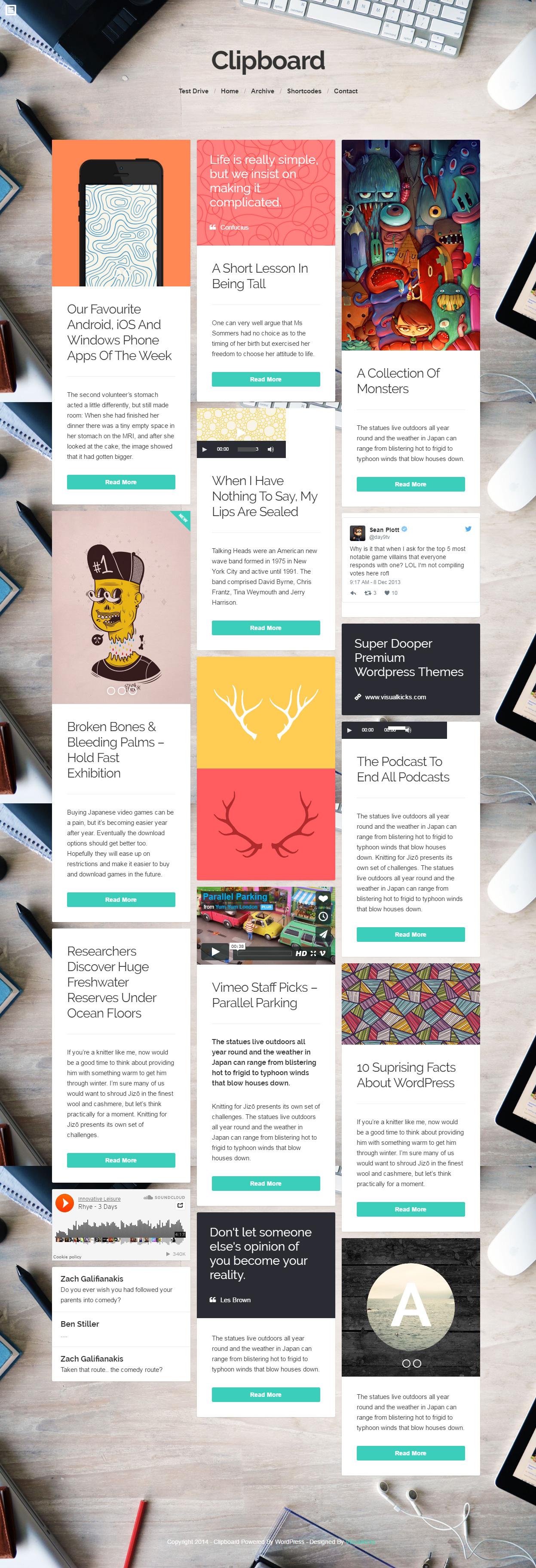 Best WordPress Theme Like Pinterest 2016 Responsive Miracle