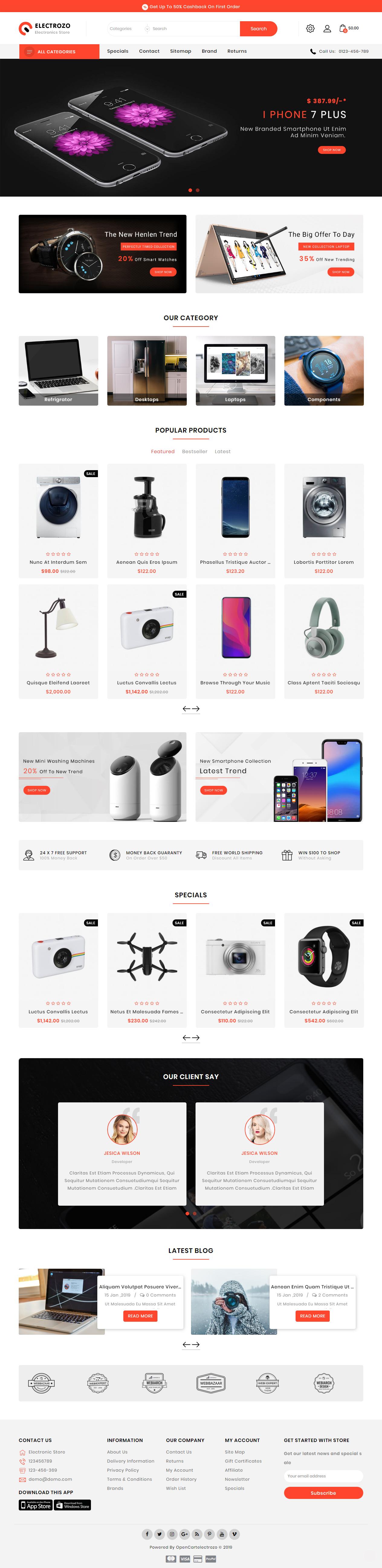 15+ Best Responsive Opencart Electronics Store Templates