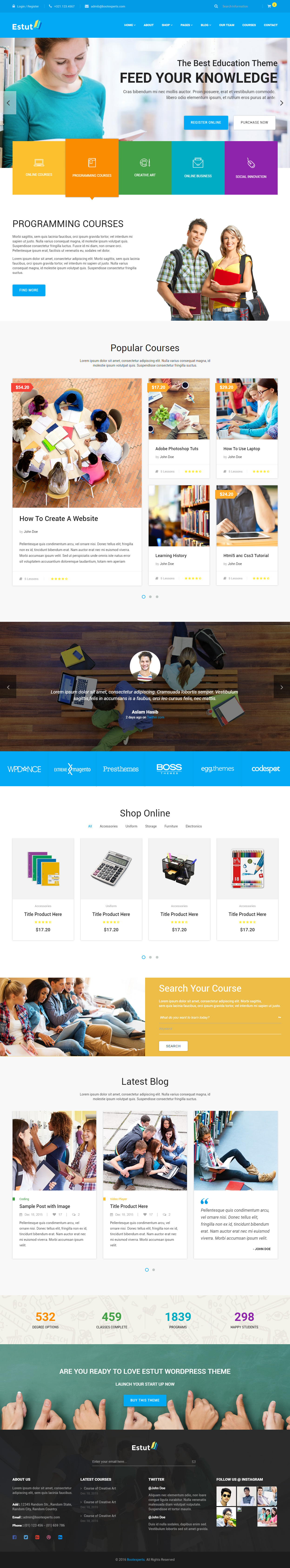 15 Best Html5 Education Website Templates In 2017 Responsive Miracle