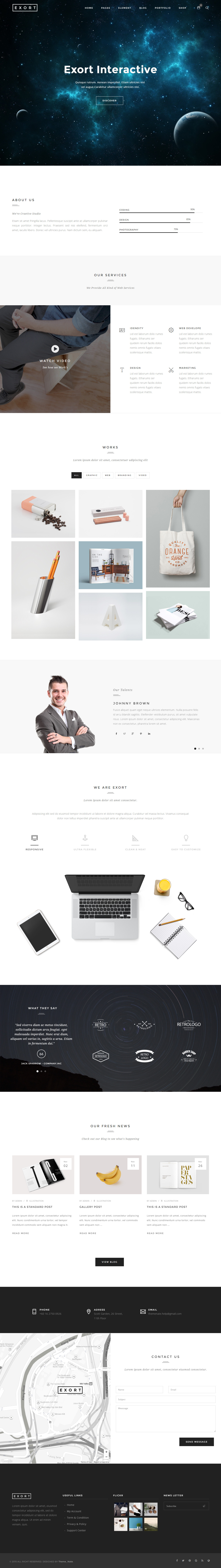 20 Best Html5 One Page Website Templates 2018 Responsive Miracle