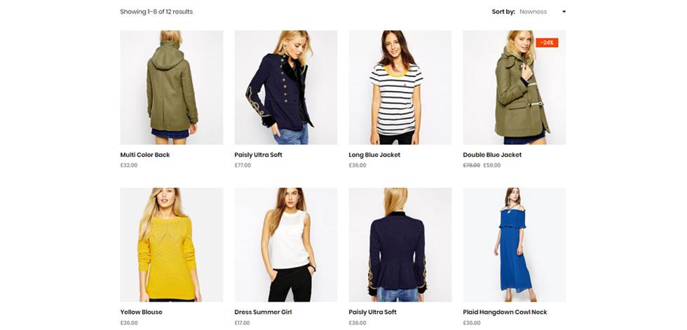 Shop page