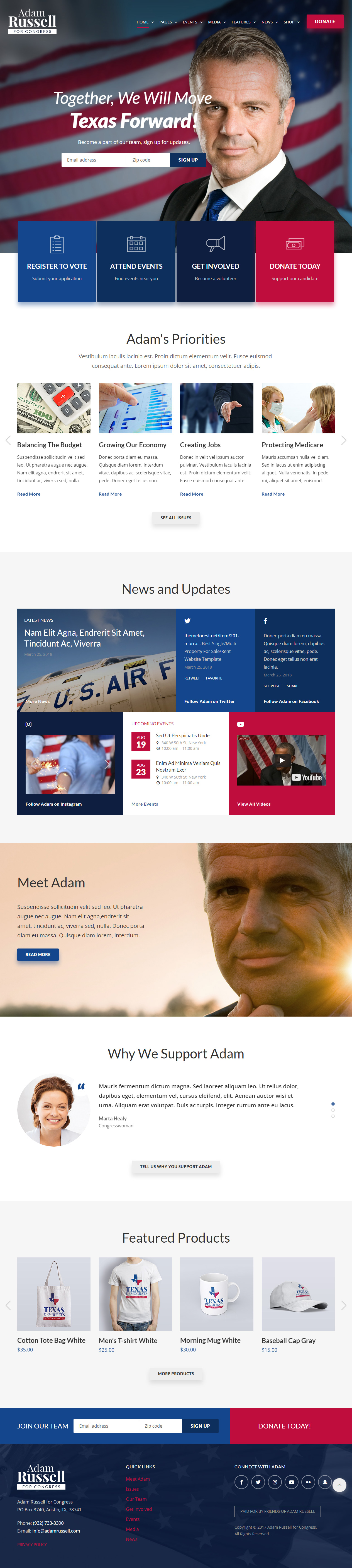 Latest Html5 Political Website Templates 2018 Responsive Miracle