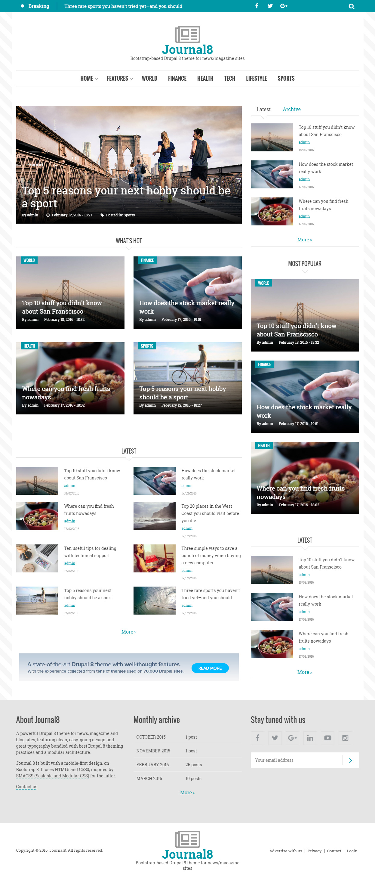 20 Best Responsive Drupal Magazine Themes 2017 - Responsive Miracle