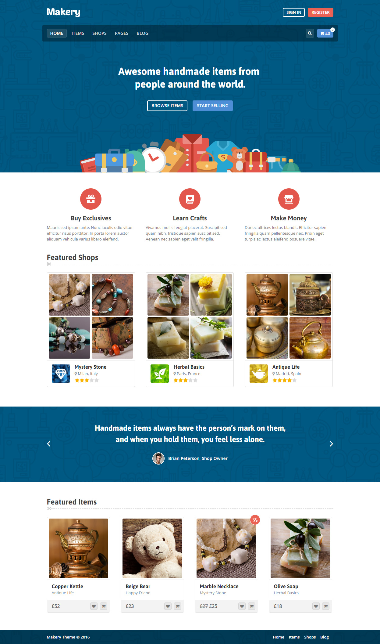 10 Best Wordpress Themes Like Etsy Responsive Miracle