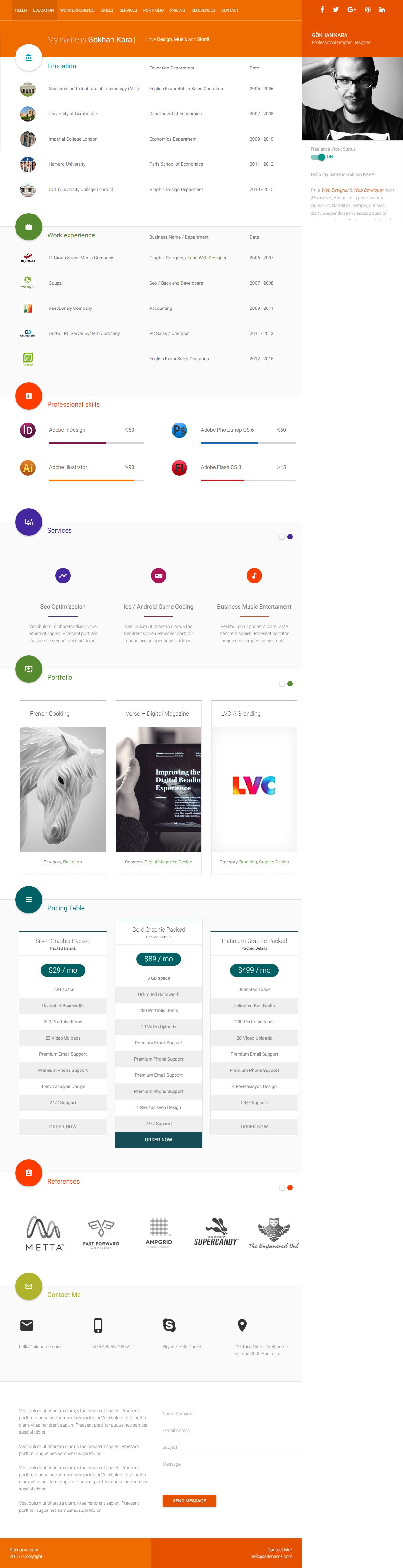 material cv - premium responsive personal cv html5 template