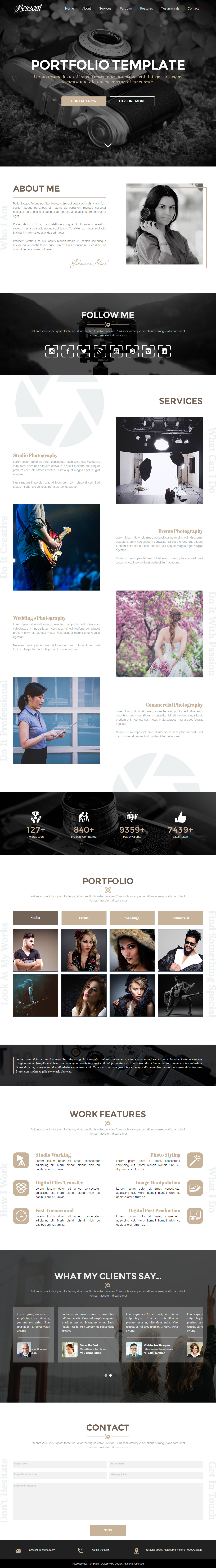 5 best photography muse template in 2016 responsive miracle pessoal photography muse template maxwellsz