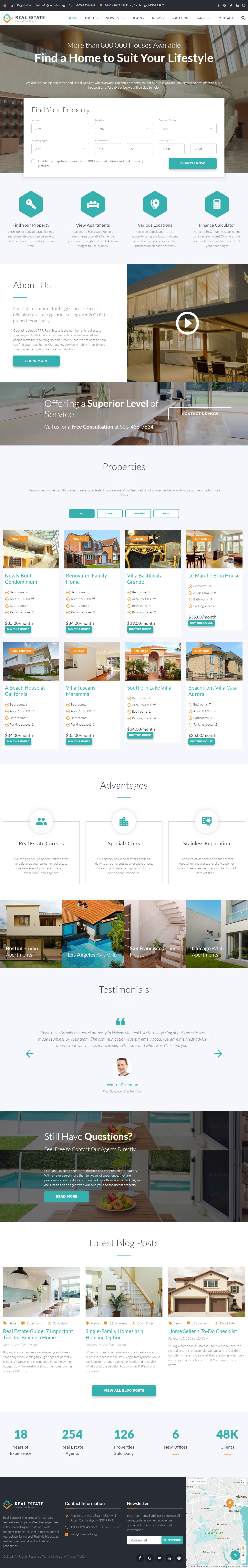 5 Latest Real Estate Website Templates 2018 Responsive Miracle
