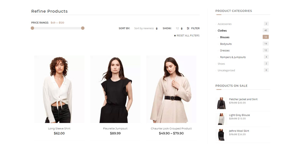 Category page