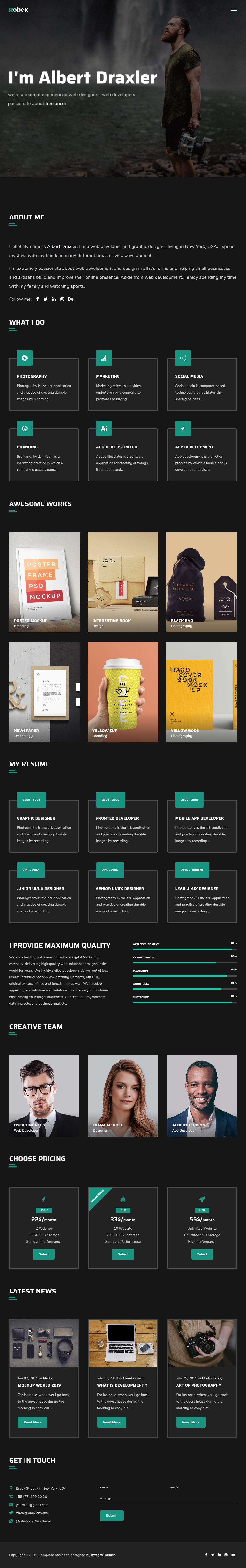 35+ Best Responsive HTML5 Portfolio Templates 2019 - Responsive Miracle