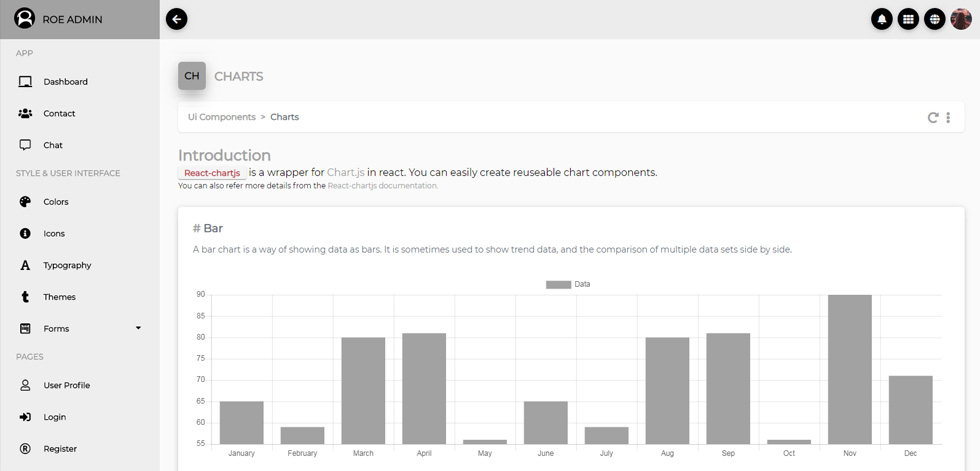 Roe - Premium Responsive ReactJS Admin Dashboard HTML5 Template
