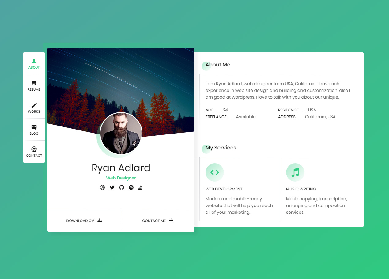 30 Best Resume And Cv Website Templates 2020 Responsive Miracle
