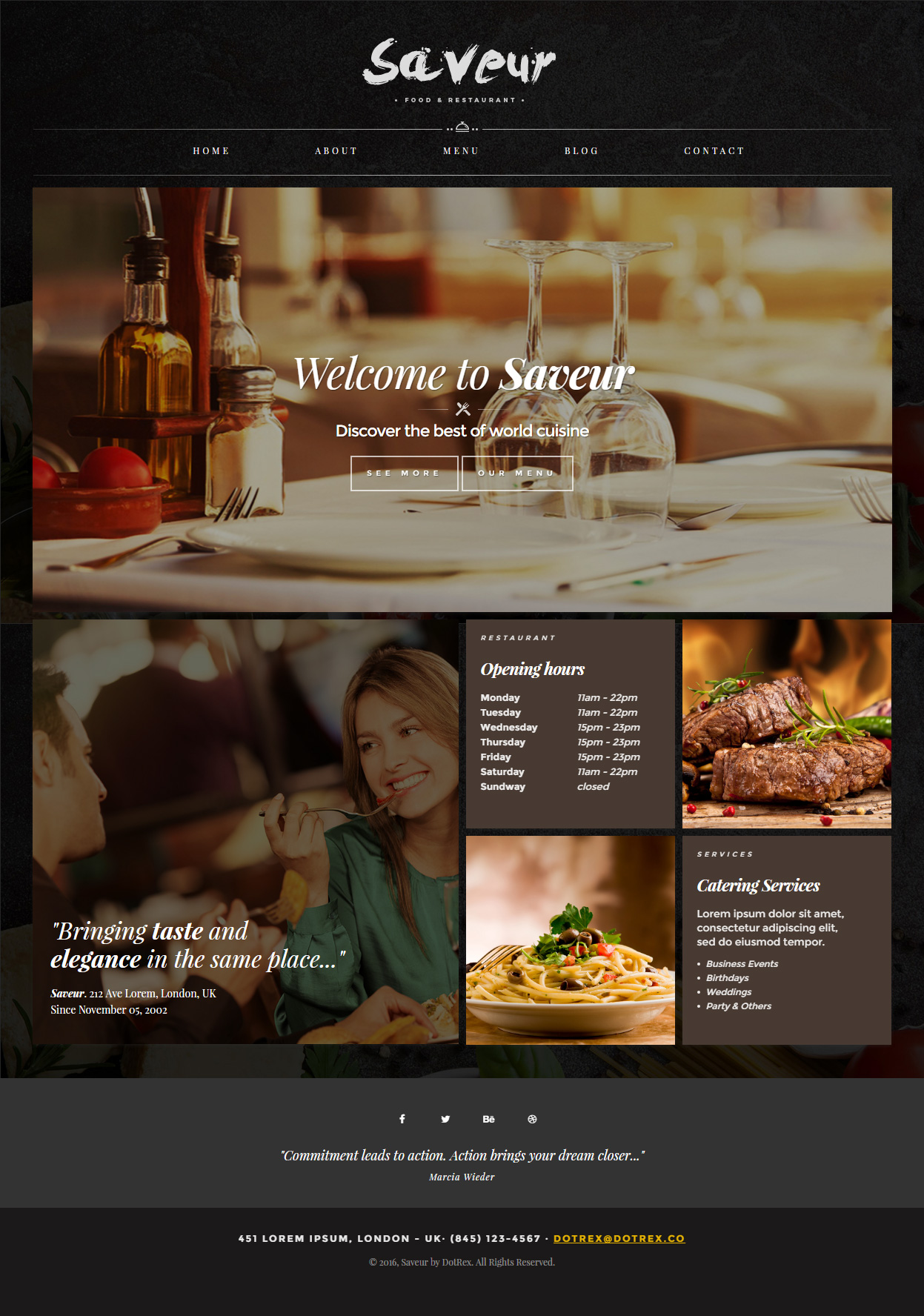 40 best cafe and restaurant website templates in 2017 responsive saveur cafe and restaurant website templates maxwellsz