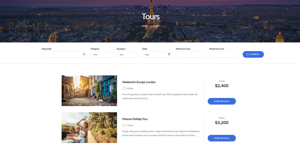 Travesia - Premium Responsive Travel Agency WordPress Theme