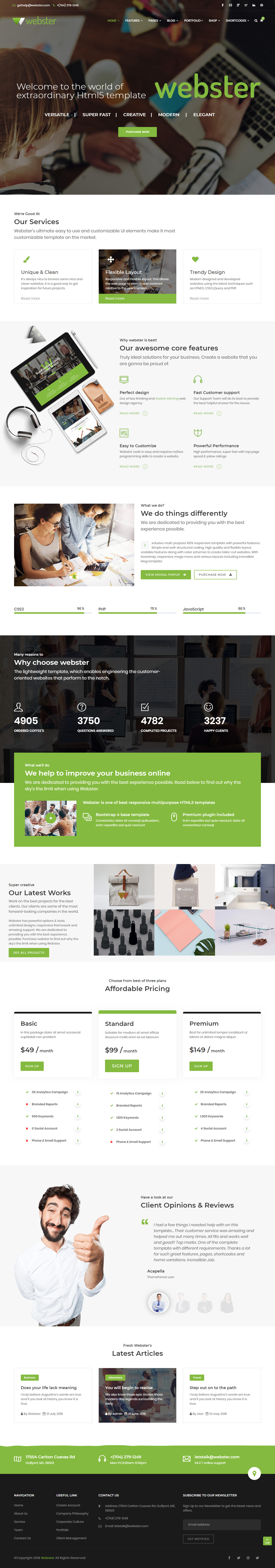 731dcb7cc6 30+ Best HTML5 One Page Website Templates 2018 - Responsive Miracle