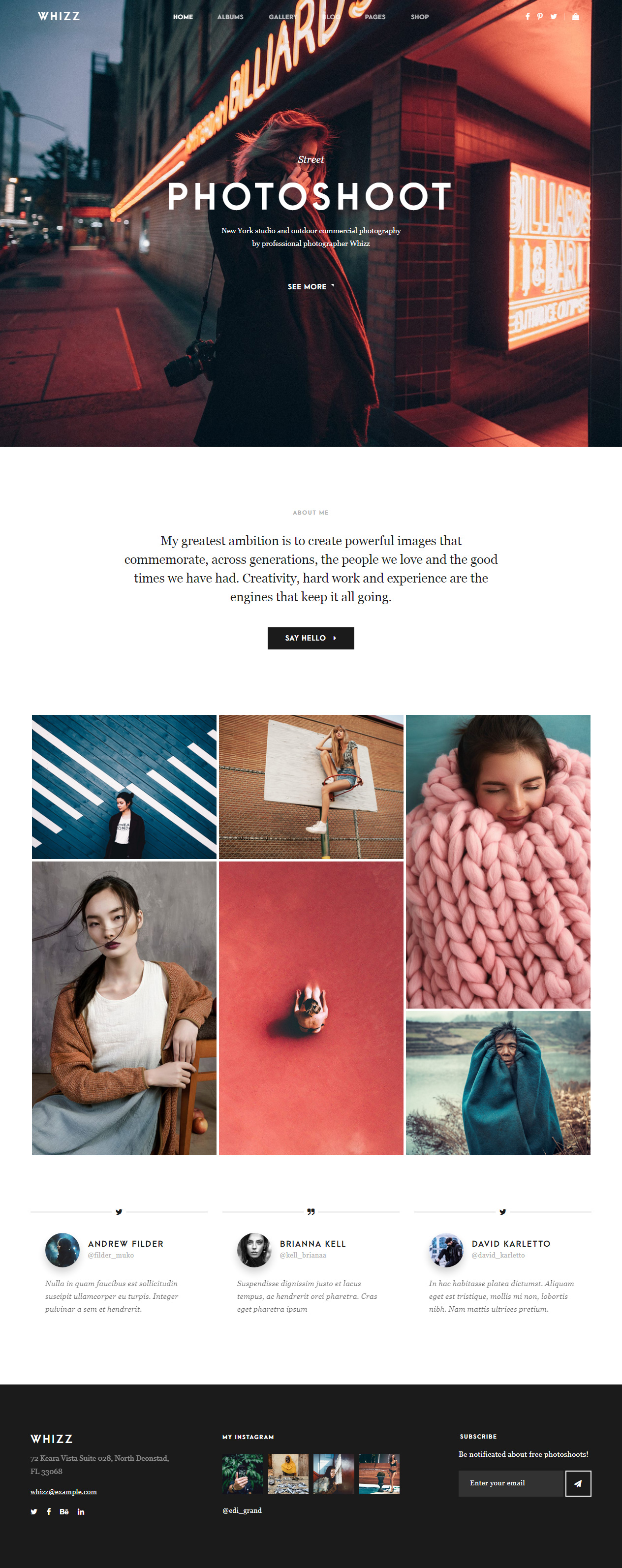 25+ Best HTML5 Photography Website Templates 2019
