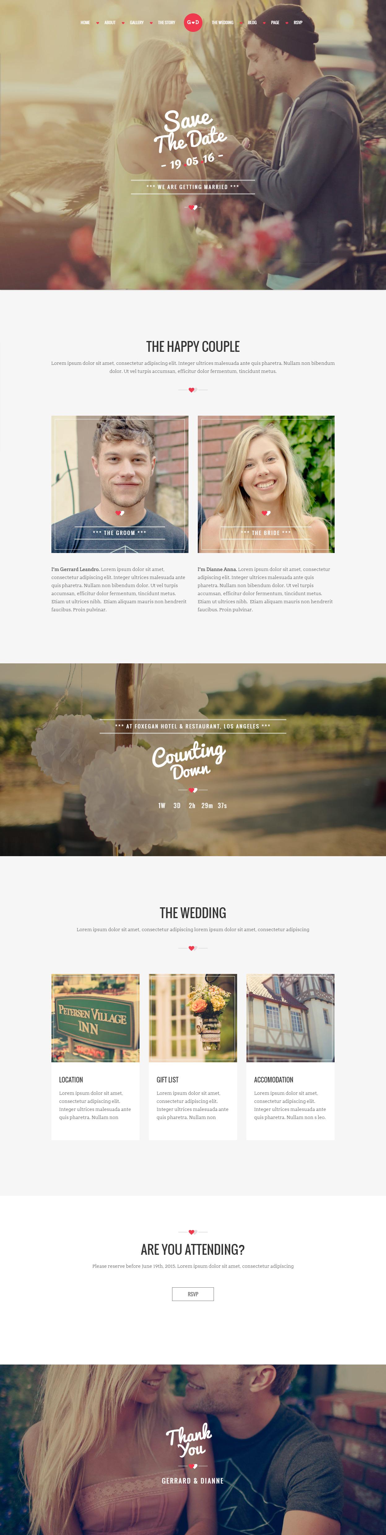 25 Best Wordpress Wedding Themes 2017 Responsive Miracle
