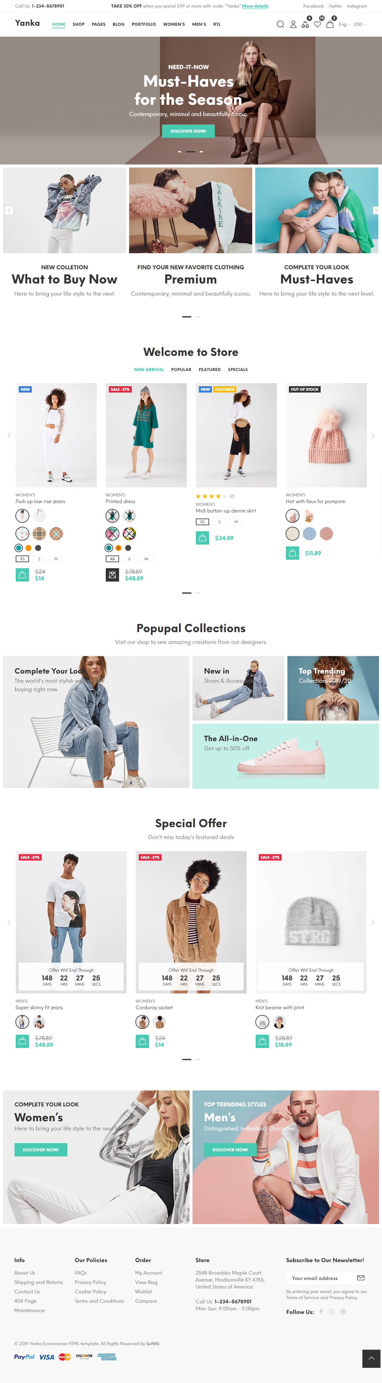 30+ Best eCommerce HTML5 Website Templates 2019 - Responsive