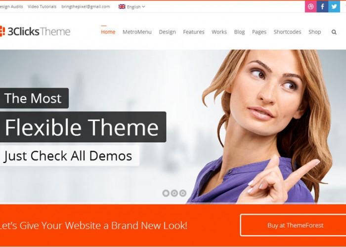 3Clicks – Premium Responsive Multi-Purpose WordPress Theme