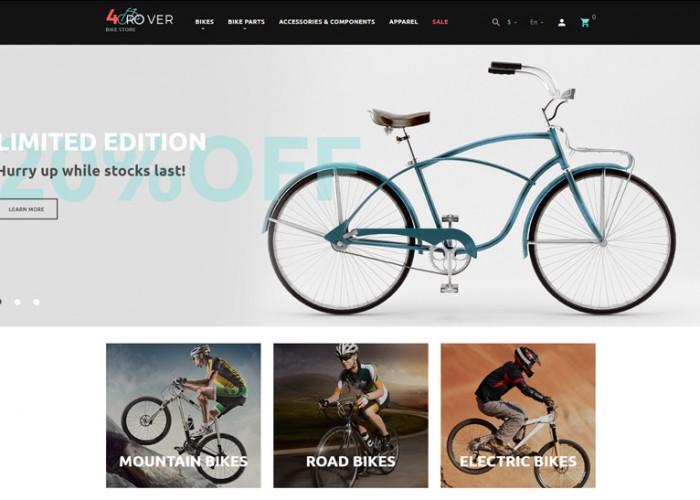 4Rover – Premium Responsive Bike Store PrestaShop Theme