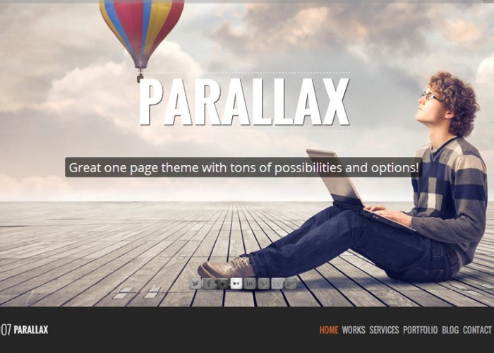 907 – Premium Responsive WordPress One Page Theme