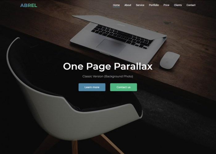 Abrel – Premium Responsive One Page Parallax HTML5 Template