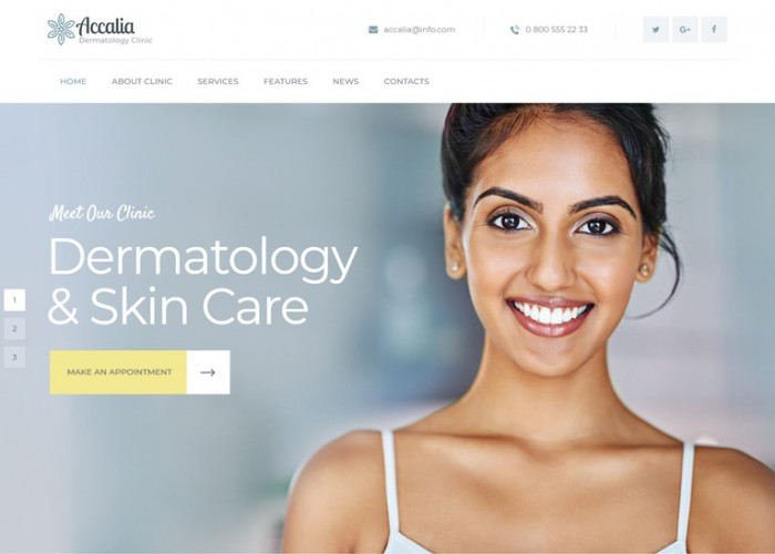 Accalia – Premium Responsive Dermatology Clinic WordPress Theme
