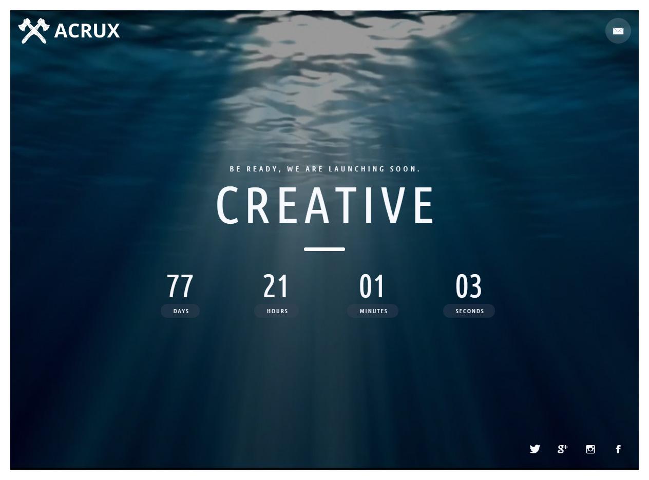 Acrux Premium Responisve Coming Soon Html5 Template