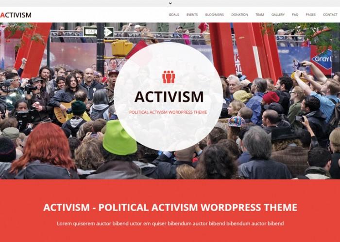 Activism – Premium Responsive Political Activism WordPress Theme