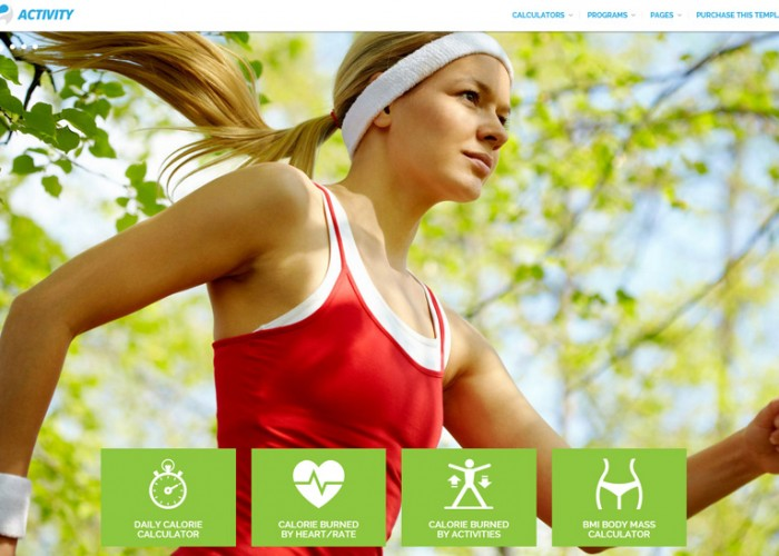 ACTIVITY – Premium Responsive Calories Calculators and Sport Activity HTML5 Template