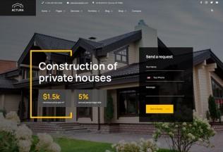Actura – Premium Responsive Construction WordPress Theme