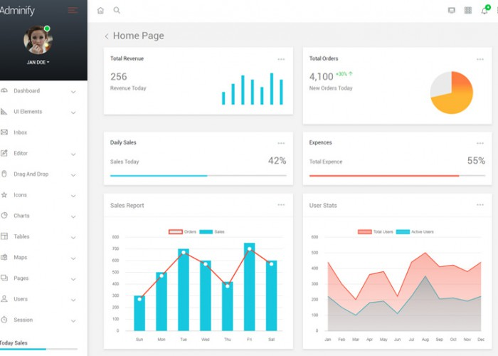Adminify – Premium Responsive VueJS Bootstrap 4 Admin HTML5 Template
