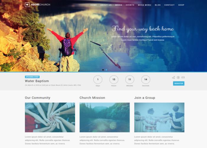 Adore Church – Premium Responsive WordPress Theme