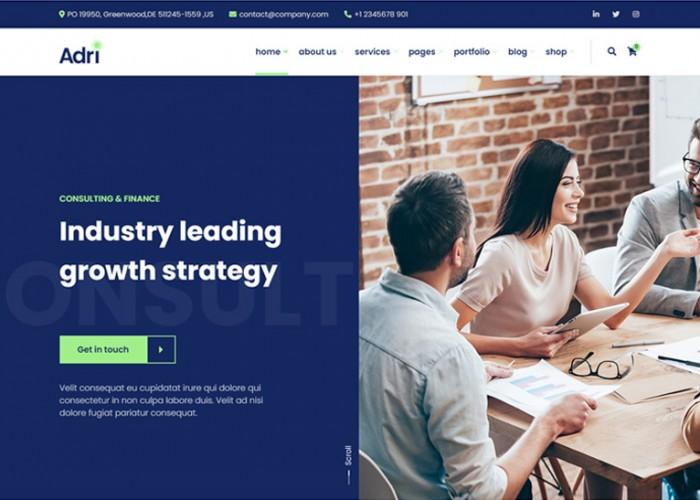 Adri – Premium Responsive Business and Consulting WordPress Theme