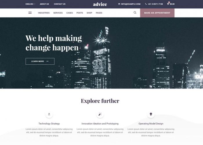 Advice – Premium Responsive Consulting Business WordPress Theme