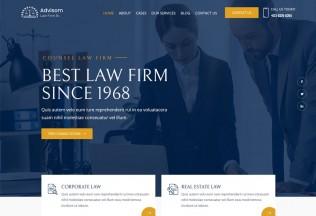 Advisom – Premium Responsive Law Firm WordPress Theme
