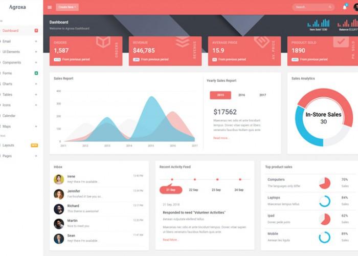 Agroxa – Premium Responsive Material Design Admin HTML5 Template