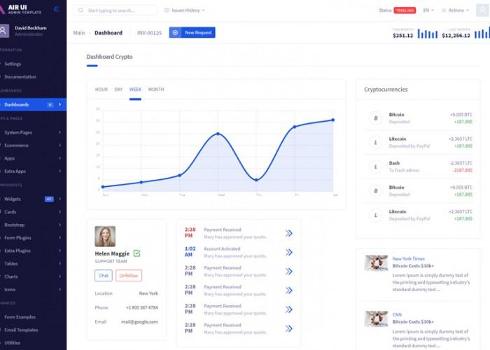 Air UI – Premium Responsive Multi Concept Admin HTML5 Template
