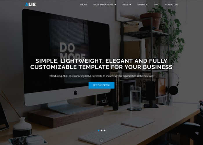 Alie – Premium Responsive Bootstrap HTML5 Template
