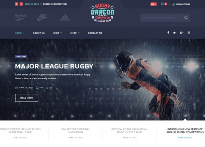 AllStar – Premium Responsive Sport Multipurpose HTML5 Template