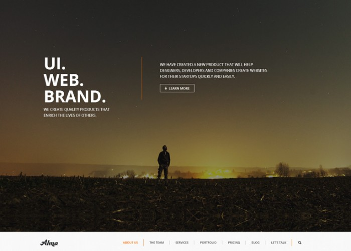 Alma – Premium Responsive Parallax One Page MultiPurpose WordPress Theme