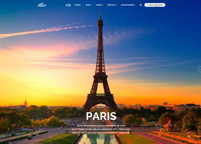 Altair – Premium Responsive Travel/Tour Agency WordPress Theme