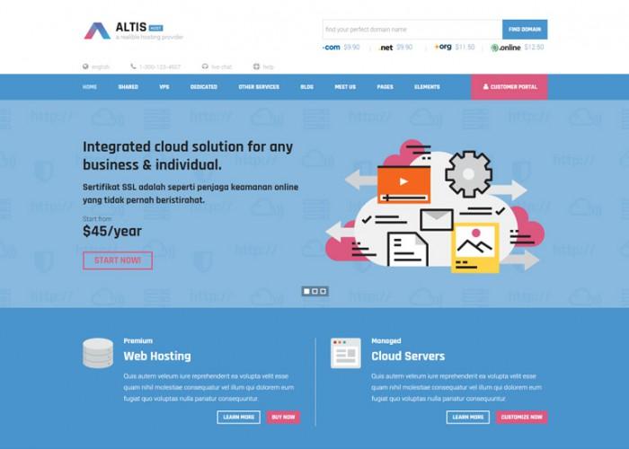 Altis – Premium Responsive Hosting HTML5 Template
