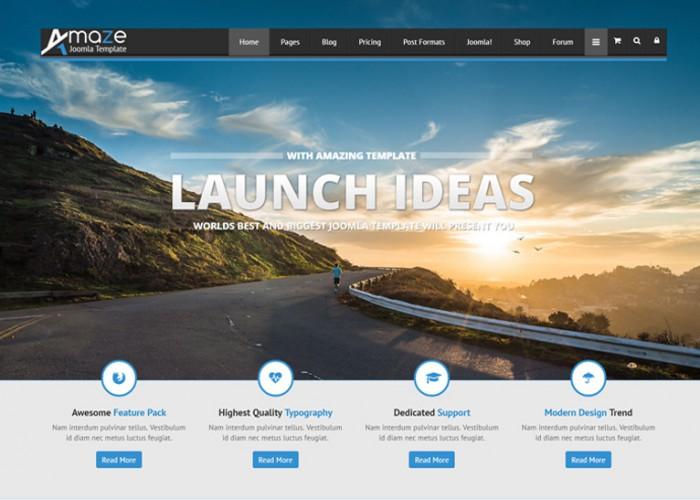 Amaze – Premium Responsive MultiPurpose Joomla Template