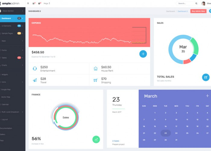 Ample Admin – Premium Responsive Dashboard Kit HTML5 Template