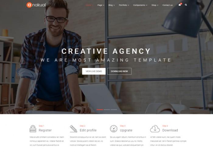 Anakual – Premium Responsive Multipurpose HTML5 Template