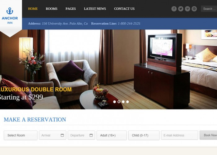 Anchor Inn – Premium Responsive Hotel and Resort WordPress Theme