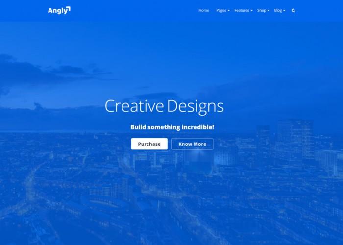 Angly – Premium Responsive Angular 8 Multipurpose HTML5 Template