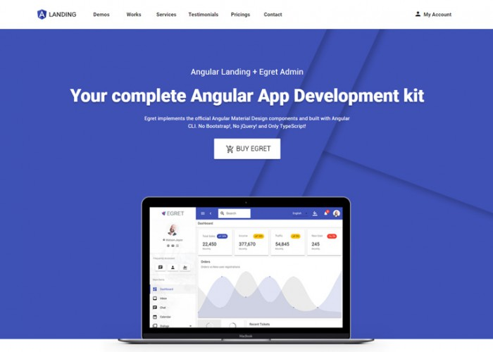 Angular Landing – Premium Responsive Angular App Landing HTML5 Template